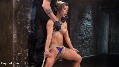 Photo number 3 from Ariel X - Extreme Bondage, Brutal Torment, and Squirting Orgasms!!! shot for hogtied on Kink.com. Featuring Ariel X and The Pope in hardcore BDSM & Fetish porn.