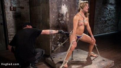 Photo number 5 from Ariel X - Extreme Bondage, Brutal Torment, and Squirting Orgasms!!! shot for hogtied on Kink.com. Featuring Ariel X and The Pope in hardcore BDSM & Fetish porn.