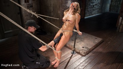 Photo number 8 from Ariel X - Extreme Bondage, Brutal Torment, and Squirting Orgasms!!! shot for hogtied on Kink.com. Featuring Ariel X and The Pope in hardcore BDSM & Fetish porn.