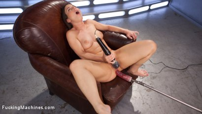 Photo number 9 from Pretty, Young, Thing Begs For Anal Pounding and Leaves Cum Drunk From Fucking Machines!!   shot for Fucking Machines on Kink.com. Featuring Serena Blair in hardcore BDSM & Fetish porn.