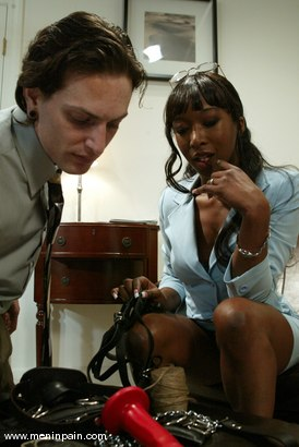 Photo number 2 from Stacey Cash and Judas shot for Men In Pain on Kink.com. Featuring Stacey Cash and Judass in hardcore BDSM & Fetish porn.