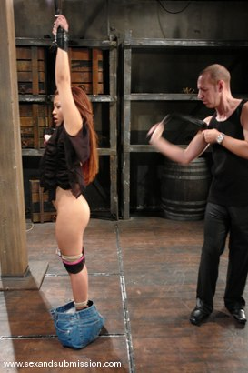 Photo number 2 from Jazmine Leih and Chris Charming shot for Sex And Submission on Kink.com. Featuring Chris Charming and Jazmine Leih in hardcore BDSM & Fetish porn.