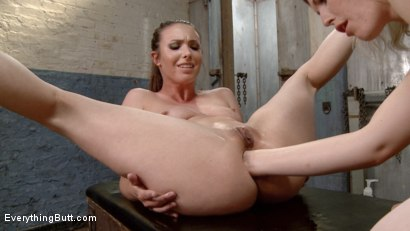 Photo number 4 from Deep and Wide Lesbian Anal Perverts Ella Nova and Casey Calvert shot for Everything Butt on Kink.com. Featuring Casey Calvert  and Ella Nova in hardcore BDSM & Fetish porn.