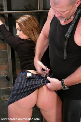 Photo number 3 from Mark Davis and Flower Tucci shot for Sex And Submission on Kink.com. Featuring Mark Davis and Flower Tucci in hardcore BDSM & Fetish porn.