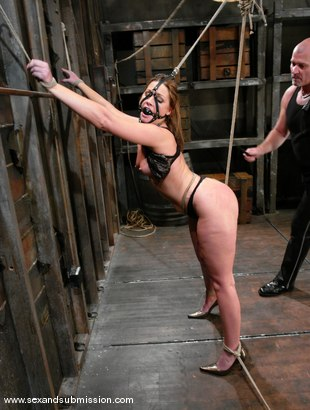 Photo number 4 from Mark Davis and Flower Tucci shot for Sex And Submission on Kink.com. Featuring Mark Davis and Flower Tucci in hardcore BDSM & Fetish porn.