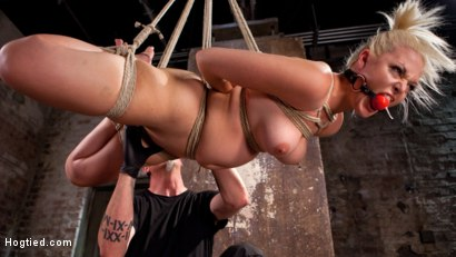 The Marilyn Monroe of Porn in Tight Bondage with Extreme Torment and Orgasms!!!