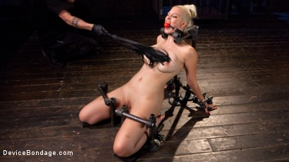 Photo number 2 from Blonde Brat Punishment shot for Device Bondage on Kink.com. Featuring Jenna Ivory and The Pope in hardcore BDSM & Fetish porn.