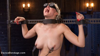 Photo number 8 from Blonde Brat Punishment shot for Device Bondage on Kink.com. Featuring Jenna Ivory and The Pope in hardcore BDSM & Fetish porn.