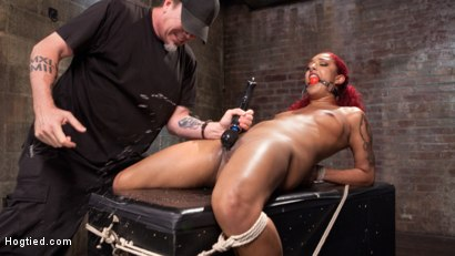 Photo number 13 from  Non Stop Squirting, Fisting and Torment in Brutal Bondage shot for Hogtied on Kink.com. Featuring Daisy Ducati and The Pope in hardcore BDSM & Fetish porn.