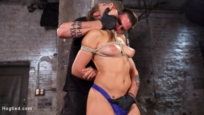 Photo number 1 from Fresh Meat in Extreme Bondage Suffering Through Torment and Squirting Orgasms!! shot for Hogtied on Kink.com. Featuring Cassidy Klein and The Pope in hardcore BDSM & Fetish porn.