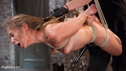 Photo number 8 from Fresh Meat in Extreme Bondage Suffering Through Torment and Squirting Orgasms!! shot for Hogtied on Kink.com. Featuring Cassidy Klein and The Pope in hardcore BDSM & Fetish porn.