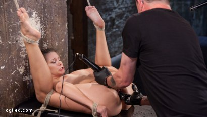 Photo number 14 from Fresh Meat in Extreme Bondage Suffering Through Torment and Squirting Orgasms!! shot for Hogtied on Kink.com. Featuring Cassidy Klein and The Pope in hardcore BDSM & Fetish porn.