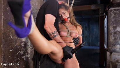 Photo number 2 from Fresh Meat in Extreme Bondage Suffering Through Torment and Squirting Orgasms!! shot for Hogtied on Kink.com. Featuring Cassidy Klein and The Pope in hardcore BDSM & Fetish porn.