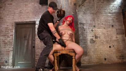 Photo number 8 from Voluptuous Sex Kitten in Brutal Bondage and Ass Fucked shot for Hogtied on Kink.com. Featuring Proxy Paige and The Pope in hardcore BDSM & Fetish porn.