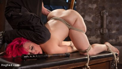 Photo number 10 from Voluptuous Sex Kitten in Brutal Bondage and Ass Fucked shot for Hogtied on Kink.com. Featuring Proxy Paige and The Pope in hardcore BDSM & Fetish porn.
