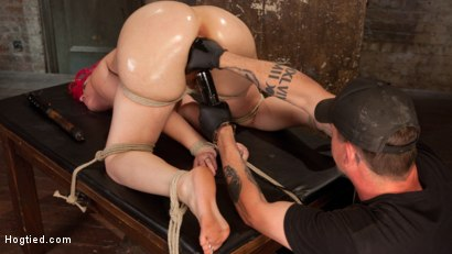 Photo number 11 from Voluptuous Sex Kitten in Brutal Bondage and Ass Fucked shot for Hogtied on Kink.com. Featuring Proxy Paige and The Pope in hardcore BDSM & Fetish porn.