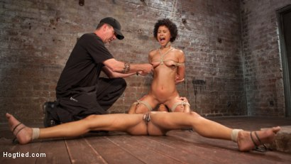 Photo number 11 from Double Your Pleasure Double Your Fun shot for Hogtied on Kink.com. Featuring Mia Austin, Nikki Darling and The Pope in hardcore BDSM & Fetish porn.
