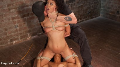 Photo number 4 from Double Your Pleasure Double Your Fun shot for Hogtied on Kink.com. Featuring Mia Austin, Nikki Darling and The Pope in hardcore BDSM & Fetish porn.