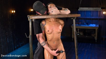Photo number 3 from Penthouse Pet Skin Diamond Squirting in Brutal Bondage and Punished!! shot for Device Bondage on Kink.com. Featuring Skin Diamond and The Pope in hardcore BDSM & Fetish porn.