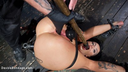 Photo number 4 from Tattooed Masochist In Grueling Bondage, Tormented and Orgasm Overload!! shot for Device Bondage on Kink.com. Featuring Lola Luscious and The Pope in hardcore BDSM & Fetish porn.