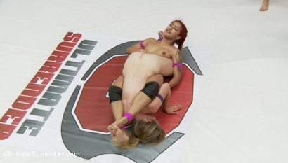 Photo number 8 from Champion vs. Champion in Extreme Competitive Erotic Wrestling tournament shot for Ultimate Surrender on Kink.com. Featuring Mona Wales and Daisy Ducati in hardcore BDSM & Fetish porn.