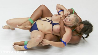 Photo number 4 from Team Tarrasque takes on Team Grappler DP and Fisting for the Losers shot for Ultimate Surrender on Kink.com. Featuring Angel Allwood, Andre Shakti, Yasmine Loven and Lisa Tiffian in hardcore BDSM & Fetish porn.