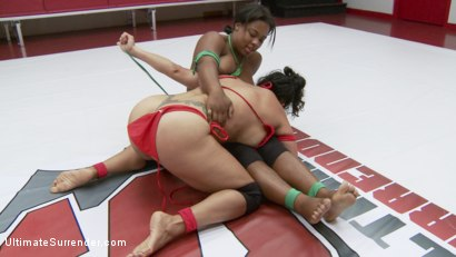 Photo number 14 from Two Dominant Wrestlers Fight in Erotic Wrestling, Only One can Win shot for Ultimate Surrender on Kink.com. Featuring Izamar Gutierrez and Yasmine Loven in hardcore BDSM & Fetish porn.
