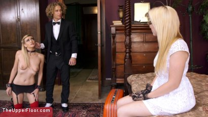 Photo number 5 from Spoiled Little Rich Girl Fucked Like a Slave shot for The Upper Floor on Kink.com. Featuring Samantha Rone, Michael Vegas and Amanda Tate in hardcore BDSM & Fetish porn.