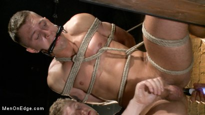 Photo number 3 from Party boy wakes up to find himself in a crucified edging shot for Men On Edge on Kink.com. Featuring Tyler Rush in hardcore BDSM & Fetish porn.
