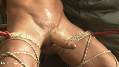 Photo number 8 from Ripped stud with a big cock carjacked and edged in the wilderness shot for Men On Edge on Kink.com. Featuring Damien Michaels in hardcore BDSM & Fetish porn.