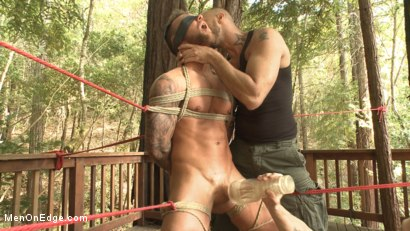Photo number 12 from Ripped stud with a big cock carjacked and edged in the wilderness shot for Men On Edge on Kink.com. Featuring Damien Michaels in hardcore BDSM & Fetish porn.