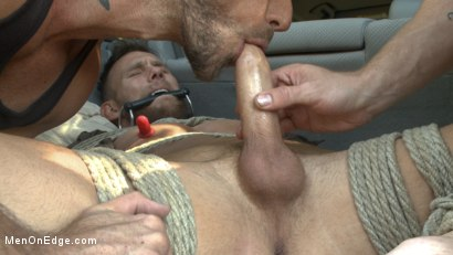 Photo number 5 from Ripped stud with a big cock carjacked and edged in the wilderness shot for Men On Edge on Kink.com. Featuring Damien Michaels in hardcore BDSM & Fetish porn.