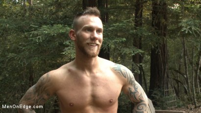 Photo number 15 from Ripped stud with a big cock carjacked and edged in the wilderness shot for Men On Edge on Kink.com. Featuring Damien Michaels in hardcore BDSM & Fetish porn.