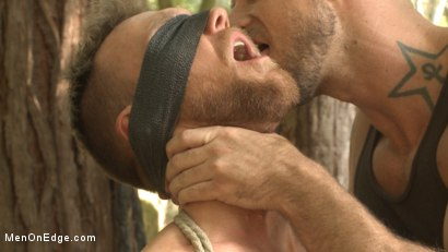 Photo number 13 from Ripped stud with a big cock carjacked and edged in the wilderness shot for Men On Edge on Kink.com. Featuring Damien Michaels in hardcore BDSM & Fetish porn.
