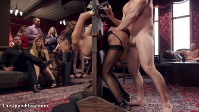 Photo number 9 from Fresh 19 Year Old Tied Tight and Made to Serve Orgy  shot for The Upper Floor on Kink.com. Featuring John Strong and Ashley Adams in hardcore BDSM & Fetish porn.