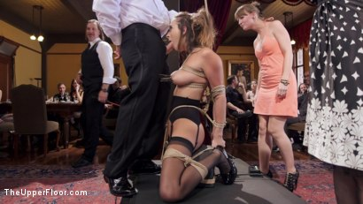 Photo number 2 from Fresh 19 Year Old Tied Tight and Made to Serve Orgy  shot for The Upper Floor on Kink.com. Featuring John Strong and Ashley Adams in hardcore BDSM & Fetish porn.