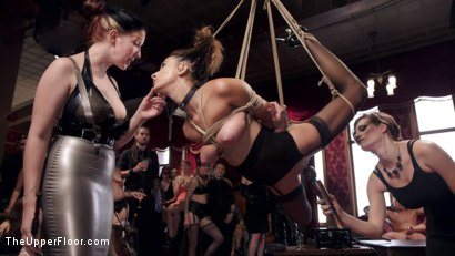 Photo number 5 from Fresh 19 Year Old Tied Tight and Made to Serve Orgy  shot for The Upper Floor on Kink.com. Featuring John Strong and Ashley Adams in hardcore BDSM & Fetish porn.