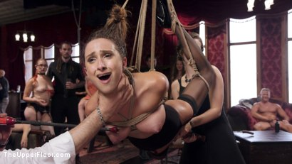 Photo number 7 from Fresh 19 Year Old Tied Tight and Made to Serve Orgy  shot for The Upper Floor on Kink.com. Featuring John Strong and Ashley Adams in hardcore BDSM & Fetish porn.