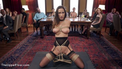 Photo number 1 from Fresh 19 Year Old Tied Tight and Made to Serve Orgy  shot for The Upper Floor on Kink.com. Featuring John Strong and Ashley Adams in hardcore BDSM & Fetish porn.