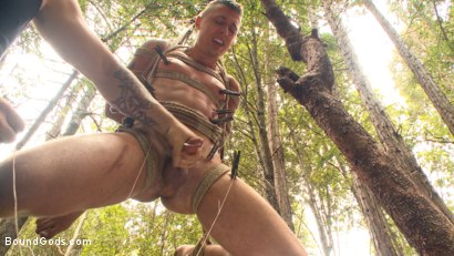Photo number 10 from Mercilessly Fucked in the Woods & Buried Alive  shot for Bound Gods on Kink.com. Featuring Trenton Ducati and Tyler Rush in hardcore BDSM & Fetish porn.