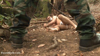 Photo number 2 from Mercilessly Fucked in the Woods & Buried Alive  shot for Bound Gods on Kink.com. Featuring Trenton Ducati and Tyler Rush in hardcore BDSM & Fetish porn.