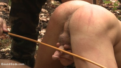 Photo number 4 from Mercilessly Fucked in the Woods & Buried Alive  shot for Bound Gods on Kink.com. Featuring Trenton Ducati and Tyler Rush in hardcore BDSM & Fetish porn.