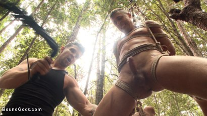 Photo number 8 from Mercilessly Fucked in the Woods & Buried Alive  shot for Bound Gods on Kink.com. Featuring Trenton Ducati and Tyler Rush in hardcore BDSM & Fetish porn.