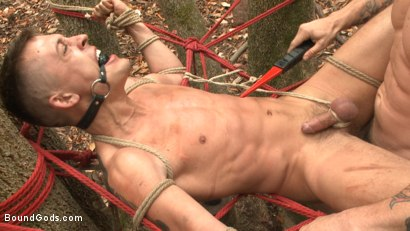 Photo number 11 from Mercilessly Fucked in the Woods & Buried Alive  shot for Bound Gods on Kink.com. Featuring Trenton Ducati and Tyler Rush in hardcore BDSM & Fetish porn.