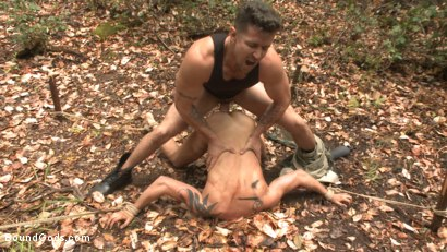 Photo number 7 from Mercilessly Fucked in the Woods & Buried Alive  shot for Bound Gods on Kink.com. Featuring Trenton Ducati and Tyler Rush in hardcore BDSM & Fetish porn.