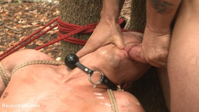 Photo number 14 from Mercilessly Fucked in the Woods & Buried Alive  shot for Bound Gods on Kink.com. Featuring Trenton Ducati and Tyler Rush in hardcore BDSM & Fetish porn.