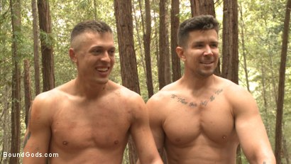 Photo number 15 from Mercilessly Fucked in the Woods & Buried Alive  shot for Bound Gods on Kink.com. Featuring Trenton Ducati and Tyler Rush in hardcore BDSM & Fetish porn.