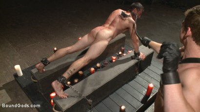 Photo number 5 from Casey More's Birthday Surprise shot for Bound Gods on Kink.com. Featuring Casey More and Connor Maguire in hardcore BDSM & Fetish porn.