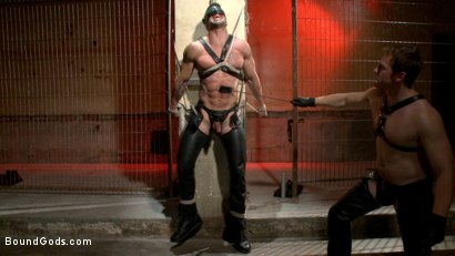 Photo number 3 from Casey More's Birthday Surprise shot for Bound Gods on Kink.com. Featuring Casey More and Connor Maguire in hardcore BDSM & Fetish porn.