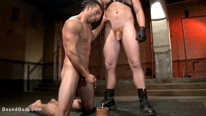Photo number 14 from Casey More's Birthday Surprise shot for Bound Gods on Kink.com. Featuring Casey More and Connor Maguire in hardcore BDSM & Fetish porn.